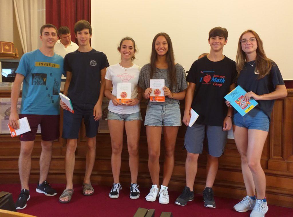 Premiazioni: squadra 2° classificata Gara di Matematica a Squadre