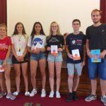 Premiazioni. Squadra 1° classificata gara di matematica a Squadre