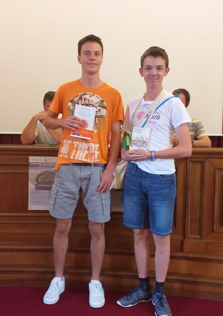 Premiazioni: Lorenzo Mucchietto e luca Sartori, migliori classificati test JUNIOR